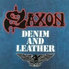 saxon - denim and leather CD 1996 disky made in holland used mint