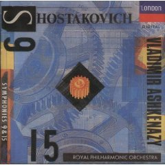 shostakovich symphonies 9 & 15 - royal philharmonic & ashkenazy CD 1992 decca BMG Direct used mint