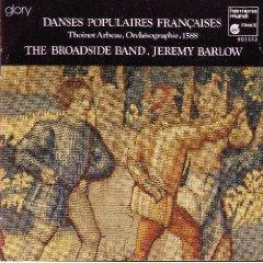 danses populaires francaises - broadside band and jeremy barlow CD 1984 harmonia mundi mint