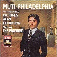 mussorgsky pictures from an exhibition stravinsky firebird - muti CD EMI japan mint