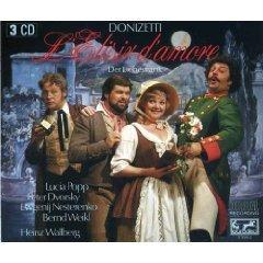Donizetti - L'elisir D'amore - wallberg popp dvorsky weikl CD 1985 ariola eurodisc germany used