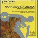 renaissance brass - empire brass quintet CD 1984 sine qua non  made in japan used mint