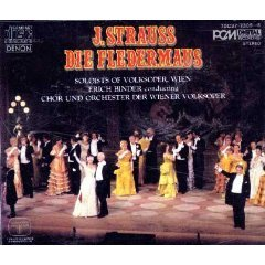 j. strauss die fledermaus binder wiener volksoper CD 2-disc box 1984 denon columbia japan used mint