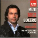 muti & philadelphia orch. 1812 bolero les preludes CD 1984 EMI england used mint