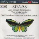 strauss - also sprach zarathustra / vier letzte lieder / die frau ohne schatten act II CD RCA mint