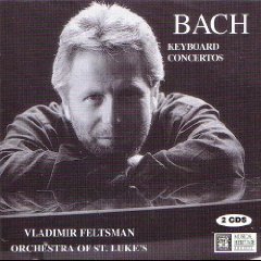 bach keyboard concertos - vladimir feltsman & orchestra of st. luke's CD 2-discs 1995 MHS used mint