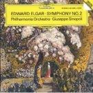 elgar - symphony no.2 - philharmonia orchestra with giuseppe sinopoli CD 1988 DG polydor mint