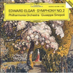 edward elgar symphony no.2 - sinopoli with philharmonia orchestra CD 1988 polydor mint