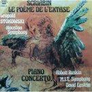 scriabin le poeme de l'extase & piano concerto - stokowski, ruskin CD 1987 pantheon mint