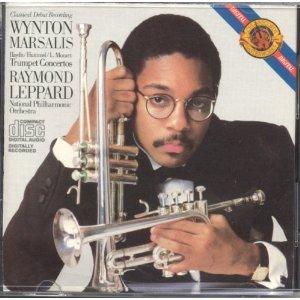 wynton marsalis and raymond leppard - trumpet concertos CD 1983 CBS masterworks used mint