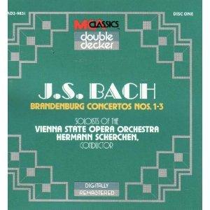 bach brandenburg concertos nos. 1-6 - soloists of vienna state opera orch CD 2-discs 1990 MCA mint