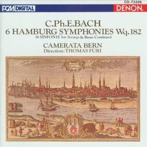 c ph e bach - 6 hamburg symphonies wq.182 - camerata bern CD 1989 denon japan mint