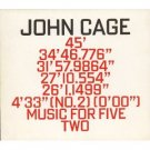 john cage - music for five CD 2-discs 1991 hat hut used mint