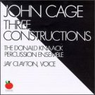 john cage - three constructions CD 1989 tomato used mint