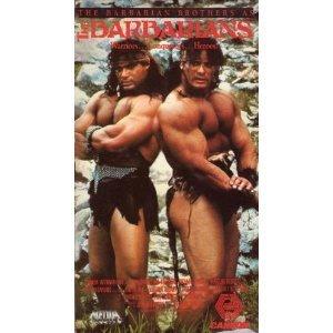 barbarians starring David Paul & Peter Paul VHS 1987 used very good