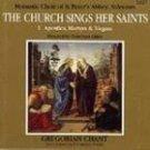 church sings her saints vol 1 - monastic choir of st. peter's abbey, solesmes CD mint