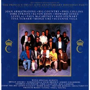 recorded highlights of the prince's trust 10th anniversary birthday party CD 1987 A&M used
