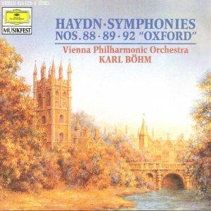 "haydn symphonies nos. 88 89 92 ""oxford"" - VPO with karl bohm CD 1975 1990 polygram DG mint"