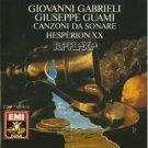 Canzoni Da Sonare - Hesperion XX Giovanni Gabrieli Giuseppe Guami Jordi Savall CD 1989 EMI germany