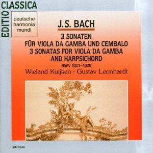 bach - 3 sonaten fur viola da gamba und cenbalo BWV 1027 - 1029 CD 1989 harmonia mundi RCA mint