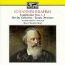 brahms symphonies 1-4 haydn variations tragic overture - sanderling & SD 3CD 1990 BMG ariola mint