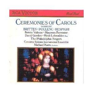 ceremonies of carols - britten poulenc respighi CD 1988 RCA BMG used mint