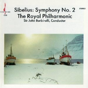 sibelius symphony no.2 - royal philharmonic with sir john barbirolli CD 1987 chesky ardee used mint