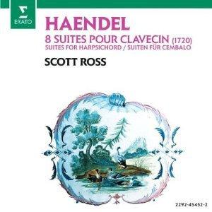 Handel 1720 Harpsichord Suites - scott ross CD 2-discs 1986 erato france used mint