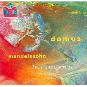 mendelssohn piano quartets - domus CD 1991 virgin UK used mint