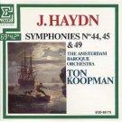 haydn symphonies 44 45 & 49 - ton koopman & amsterdam baroque orchestra CD 1986 erato france