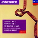 honegger Symphonies 2 & 4 and Une Cantate Noel - ansermet CD 1991 decca london used mint