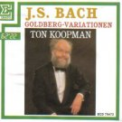 j.s. bach goldberg variations - ton koopman CD 1988 erato 32 tracks used mint