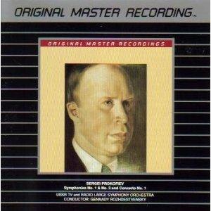 Prokofiev Symphony No. 1 & No. 3 and Concerto No. 1 - Rozhdestvensky CD MFSL used mint
