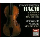 bach 3 sonaten & partiten BWV 1001 - 1006 - kuijken violin CD 2-discs 1983 1987 EMI DHM mint