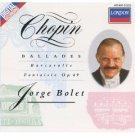 chopin ballades barcarolle fantaisie op.49 - jorge bolet CD 1988 decca london mint