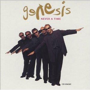 genesis - never a time CD single 1992 atlantic 3 tracks used mint