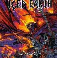 iced earth - dark saga LP 1995 century media blue color vinyl used mint