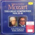 mozart greatest symphonies nos. 25 - 41 - berlin philharmonic karl bohm vinyl 7-LP boxset DG mint
