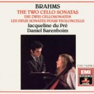brahms two cello sonatas - jacqueline du pre and daniel barenboim CD 1989 EMI used mint