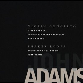 john adams - violin concert and shaker loops CD 2005nonesuch used mint