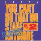 zappa - you can't do that on stage any more vol.2 CD 2-discs 1988 rykodisc barking pumpkin used