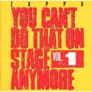 zappa - you can't do that on stage any more vol.1 CD 2-discs 1988 rykodisc barking pumpkin used
