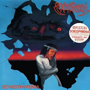 sepultura - schizophrenia CD 1990 all blacks roadrunner BMG Direct 13 tracks used mint