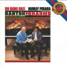 solti + murray perahia - bartok + brahms CD 1988 CBS sony used mint