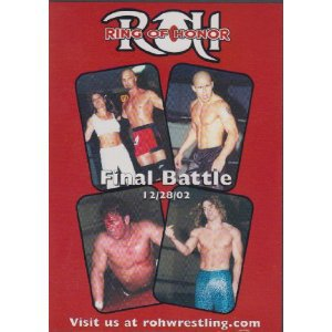ring of honor final battle 12/28/02 DVD used mint