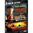 death wish 2, 3, & 4 DVD 2010 garr used mint
