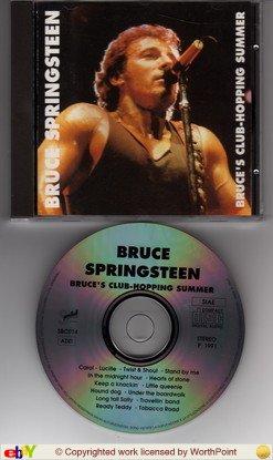 bruce springsteen - bruce's club-hopping summer CD 1991 speedball italy 14 tracks used mint