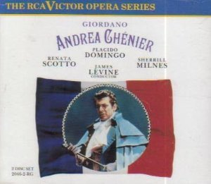giordano - andrea chenier - domingo scotto milnes levine CD 2-disc box 1990 RCA used mint