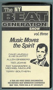 NY beat generation show vol. three - music moves the spirit VHS 1995 thin air used