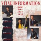 vital information - easier said than done CD 1992 capitol manhattan 12 tracks used mint